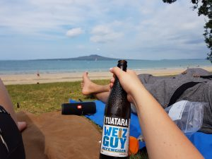 Takapuna beach chill with Weiz Guy