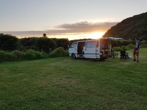 The van at Whatipu campsite