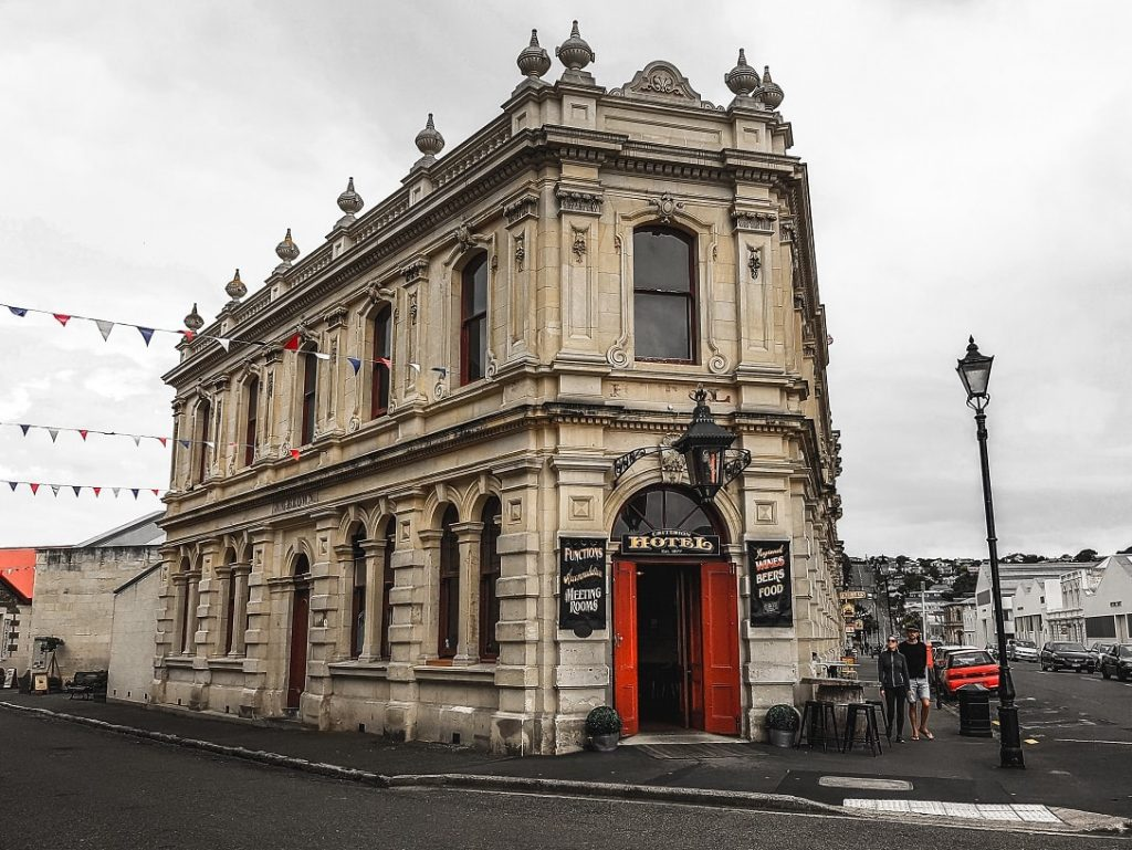 Victorian era hotel building in Oamaru, New Zealand