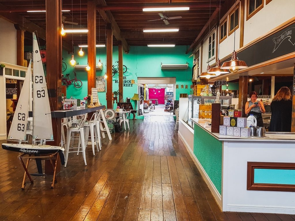 The interior of the lovely Harbor street collective cafe